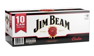JIM BEAM 10PK CAN ZERO & COLA JIM BEAM 10 PK CAN ZERO & COLA