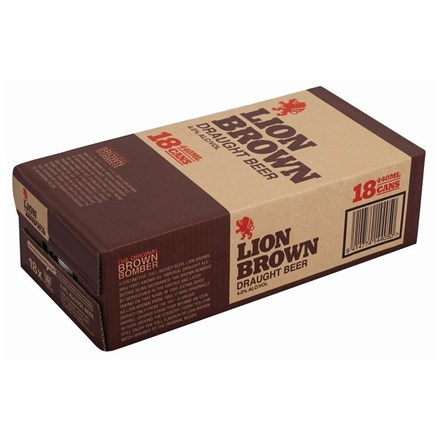 LION BROWN 18PK 440ML CANS LION BROWN 18PK 440ML CANS