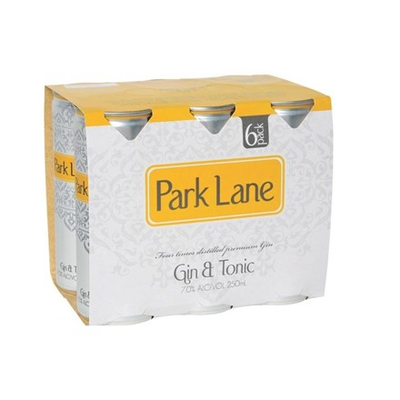 PARK LANE GIN & TONIC 4X6PK 250ML CANS PARK LENEGIN & TONIC 4X6PK 250ML CANS