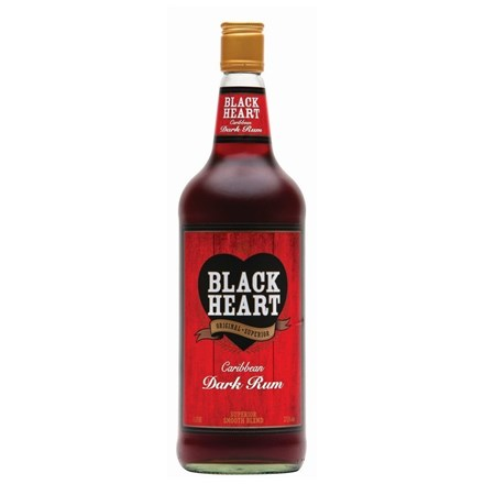 BLACK HEART RUM 1 LTR BLACK HEART RUM 1 LTR