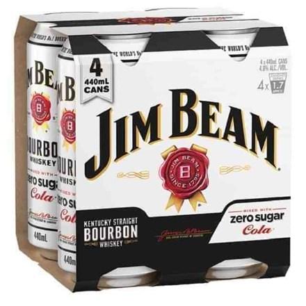 jim beam zero 4pk 440ml cans jim beam zero 4pk 440ml cans