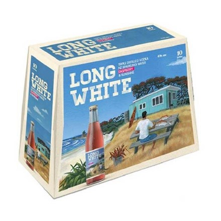 LONG WHITE RASBERRY 10PK BTLS LONG WHITE RASBERRY 10