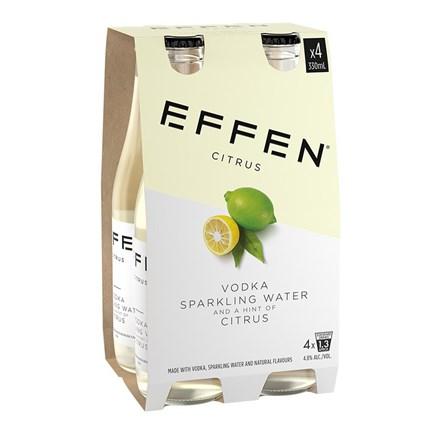 Effen Citrus Vodka 4 pk btls 330ml Effen Citrus Vodka 4pk btls 330ml