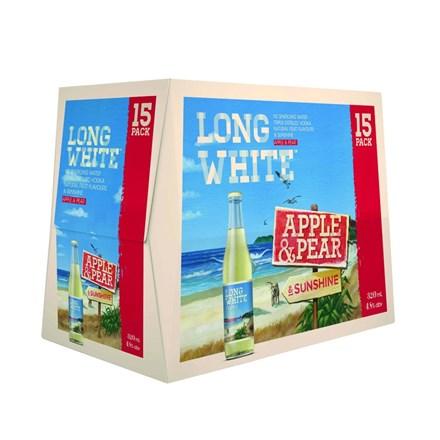 Long White Apple & Pear 15PK Bottles Long White Apple & Pear 15PK Bottles