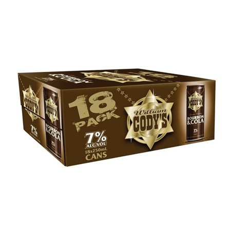 CODYS 7% 18PK 250ML CANS CODYS 7% 18 PK 250 ML