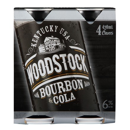 WOODSTOCK 6% 4PK 420ML CANS WOODSTOCK 6% 4PK 420ML CANS