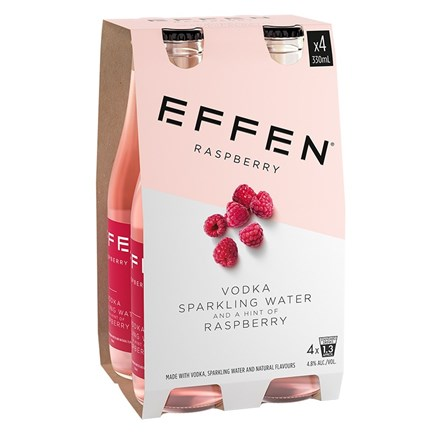 Effen Raspberry Vodka 4pk btls 330ml Effen Raspberry Vodka 4pk btls 330ml
